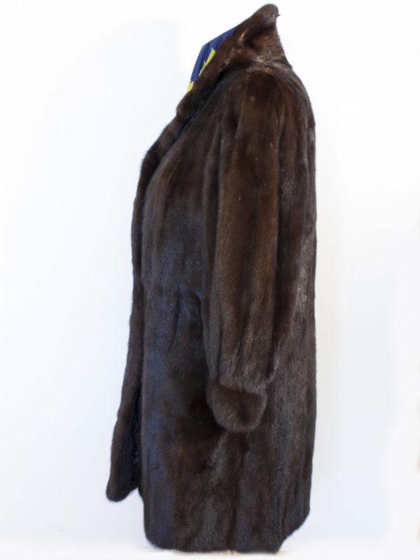 Tříčtvrteční norkový kožich SAGA MINK D180260