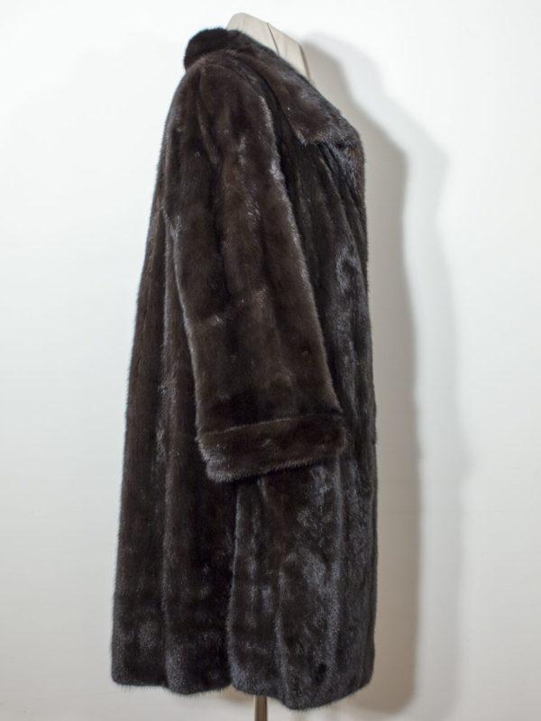 Černý norkový kožich D1700205