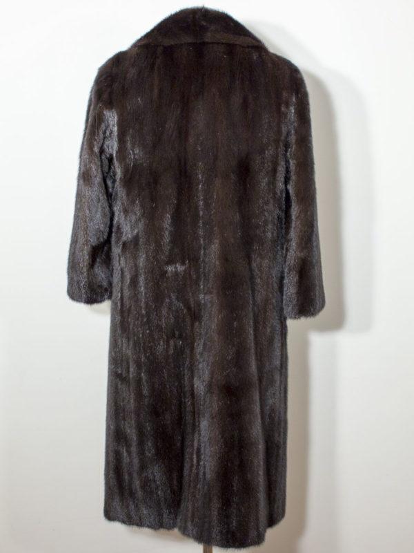 Norkový kožich s dvojitým límcem SAGA MINK D1802129